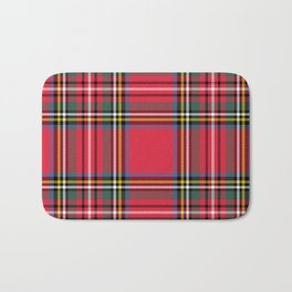 Red & Green Tartan Pattern Bath Mat