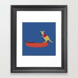 Kangaroo on Gondola Framed Art Print