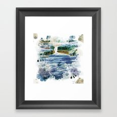 Abstract rock pool in the rough rocks Framed Art Print