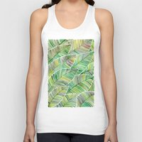 tropical Tank Tops featuring Tropical Green by Cat Coquillette