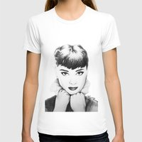 hepburn T-shirts featuring Hepburn by Aoife Rooney Art