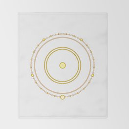 Circle of the Seraph Throw Blanket