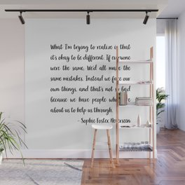 Sophie Foster Quote Wall Mural