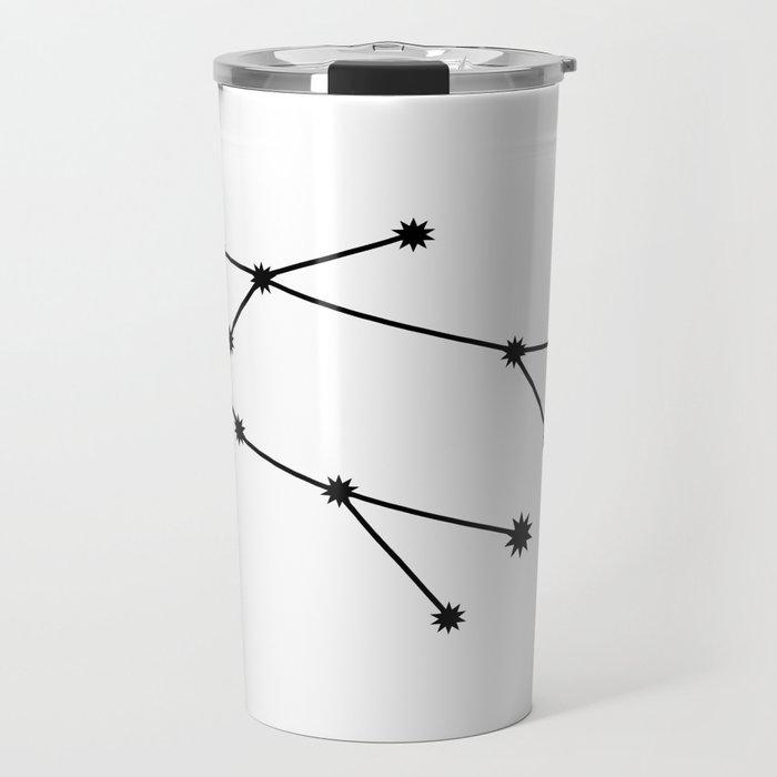 Gemini Star Sign Black & White Travel Mug