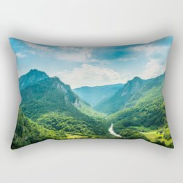 Landscape - Green Mountains  Rectangular Pillow