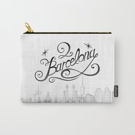 Barcelona with significant buildings Carry-All Pouch