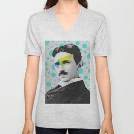 Nicola Tesla Unisex V-Neck