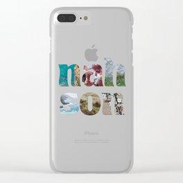nah son Clear iPhone Case