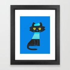 Fitz - Sailor cat Framed Art Print