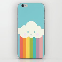 Proud rainbow cloud iPhone Skin