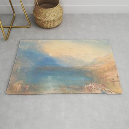 The Lake of Zug by Joseph Mallord William Turner 1843, British Rug