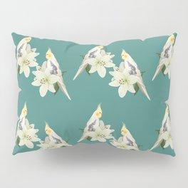 Pied Cockatiel Pillow Sham