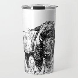 Buffalo Sketch Travel Mug