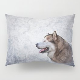 Drawing Dog Alaskan Malamute 5 Pillow Sham