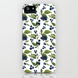 Watercolor Blueberries iPhone Case