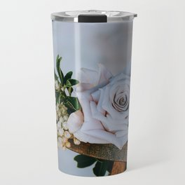 Rose on the Cross (Color) Travel Mug