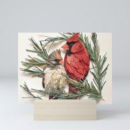 Cardinal Love Mini Art Print