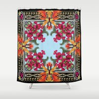 givenchy Shower Curtains featuring Givenchy Print by I Love Decor