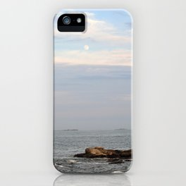 The Moon Over the Ocean iPhone Case