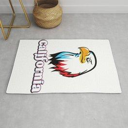 California Golden eagle Rug