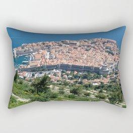 Over Dubrovnik, Croatia Rectangular Pillow