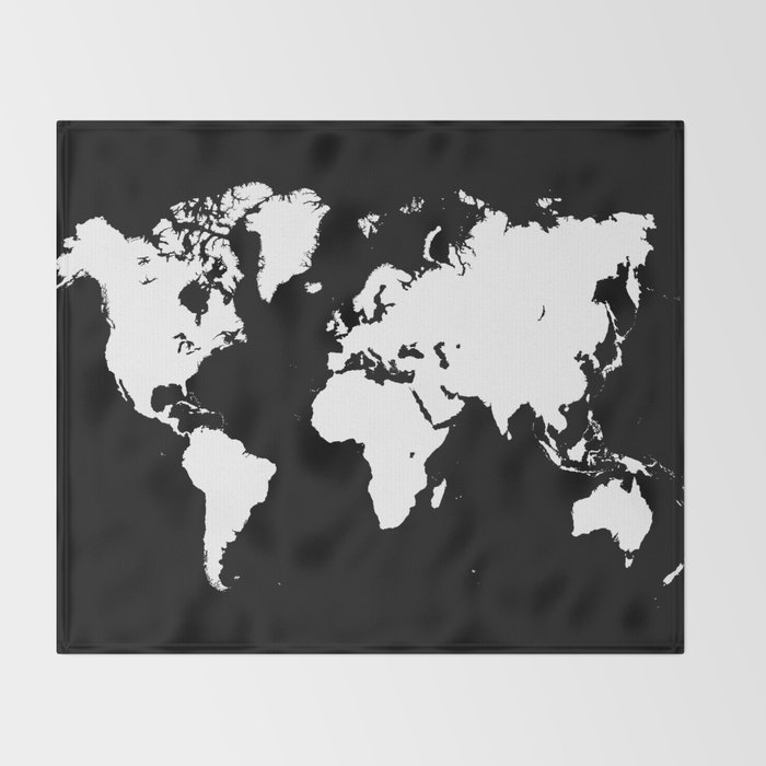 Design 69 world map throw blanket by artbylucie society6 design 69 world map throw blanket gumiabroncs Images