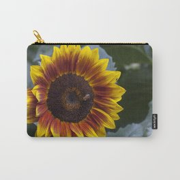 Red Sunflower with Bee Carry-All Pouch