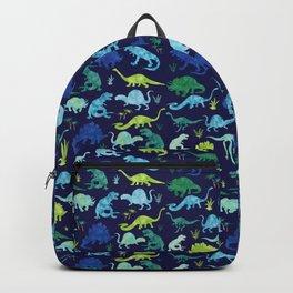 Watercolor Dinosaur Blue Green Dino Pattern Backpack