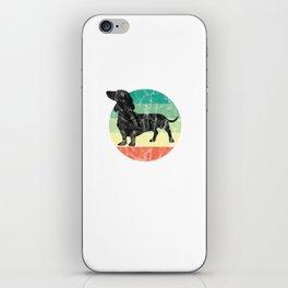 Cute Retro Dachshund Weiner Dog Mom Dog Dad iPhone Skin