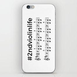 #2ndviolinlife iPhone Skin