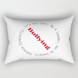 Stop Bullying-Outline Rectangular Pillow