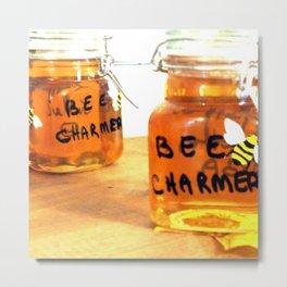 Bee Charmer Square Metal Print