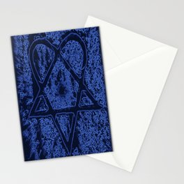 Nightfall Blue Heartagram Stationery Cards