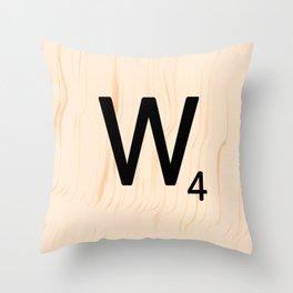Scrabble Letter W - Scrabble Art and Apparel Throw Pillow