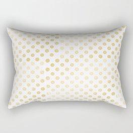 Vintage rustic faux gold white elegant polka dots pattern Rectangular Pillow