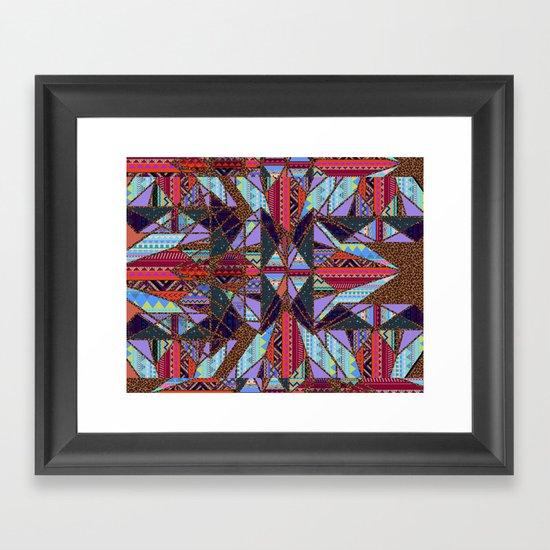 RETRO KALEIDOSCOPE //TWO Framed Art Print