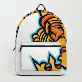 King With Crown Mascot Backpack
