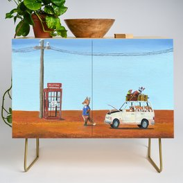 The Out of Service Phone Box Credenza