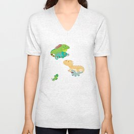 Need All These Lizards Unisex V-Neck