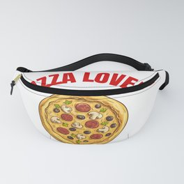 Pizza   Pizza Lover   Gifts for Pizza Lover   Present   Food   Love Pizza   Shirt   Lage Size Fanny Pack