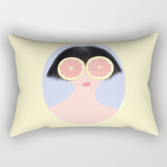 CITRUS & GIRL Rectangular Pillow