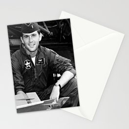 George W Bush in the Texas Air National Guard Stationery Cards