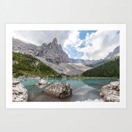 Sorapis Lake - Italy Art Print