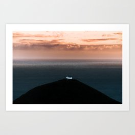 Lonely House by the Sea during Sunset - Landscape Photography Art Print