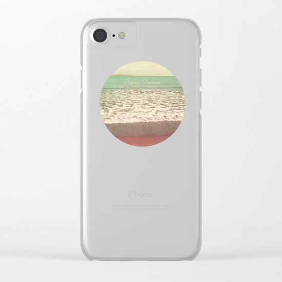 Ocean Dream I Clear iPhone Case