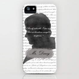 Mr. Darcy - Quote about Elizabeth Bennet iPhone Case