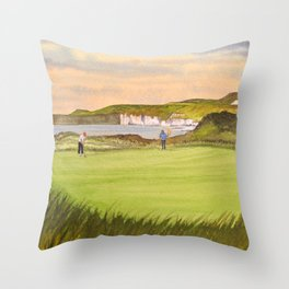 Royal Portrush Golf Course 5th Hole Throw Pillow
