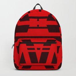 Red Fire Geometric Design Backpack