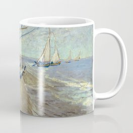 Van Gogh - Fishing boats on the beach, 1888 Coffee Mug