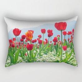 Giant tulip garden Rectangular Pillow